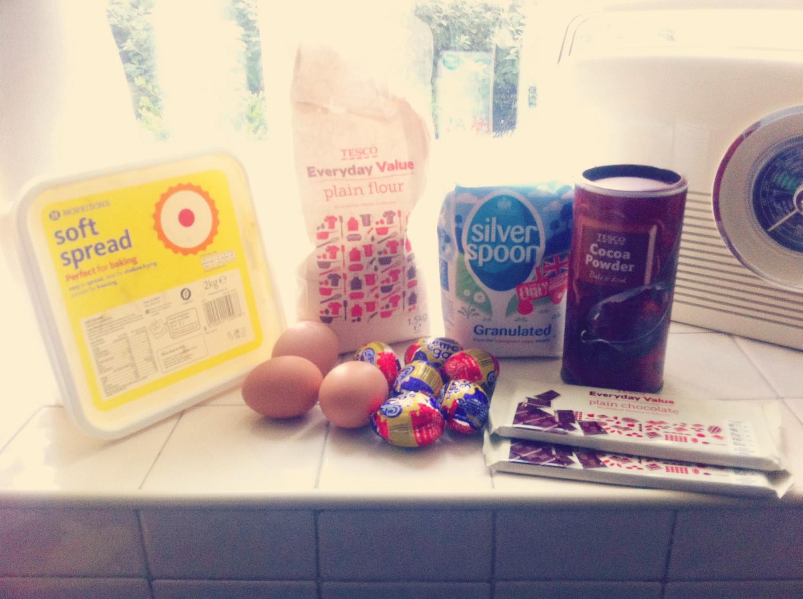 Cadbury Creme Egg Brownies 1
