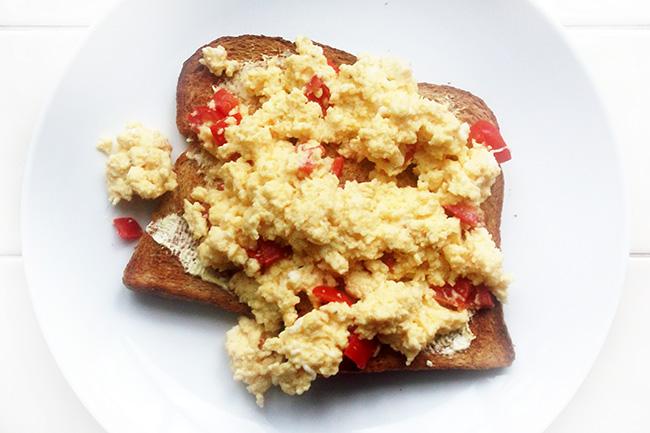 Luxury Cheese & Tomato Scrambled Egg Recipe 2