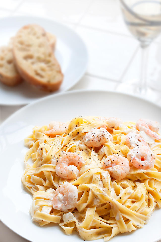 Low-fat Creamy Pepper Prawn Tagliatelle Recipe 2