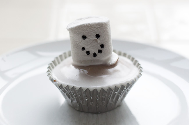 Melted Snowman Cupcake Recipe 9