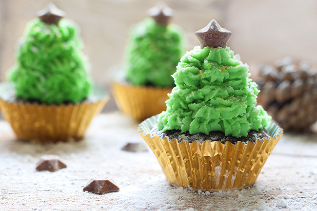 Chocolate Christmas Tree Cupcake Recipe 10