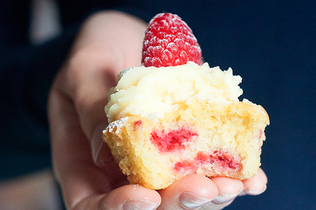 Dreamy White Chocolate & Raspberry Cupcake Recipe 4