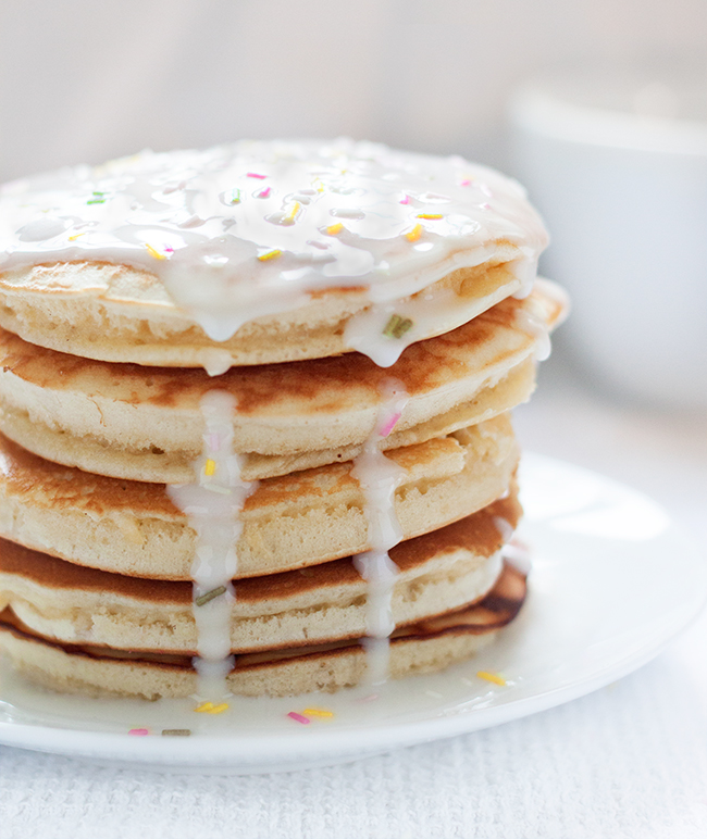 Iced Birthday Cake Pancakes Recipe 4