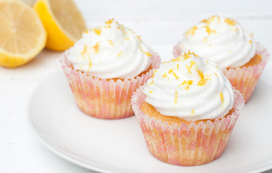 Lemon Cupcakes with Extra Light Frosting 1