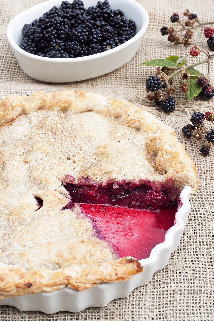 Traditional Homemade Blackberry and Apple Pie Recipe