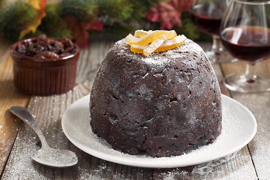 Orange, fig and almond Christmas pudding | cookbakeeat.com #christmas #pudding #dessert