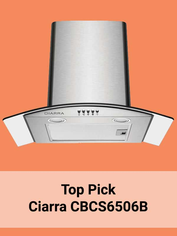 Top pick Ciarra CBCS6506B Cooker Hood