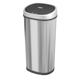 1home Stainless Steel Touchless Dustbin