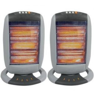 Babz Media Oscillating Halogen Heater